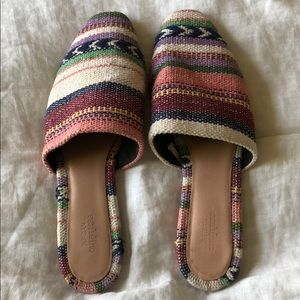 Urban Outfitters Aztec tribal flats mules